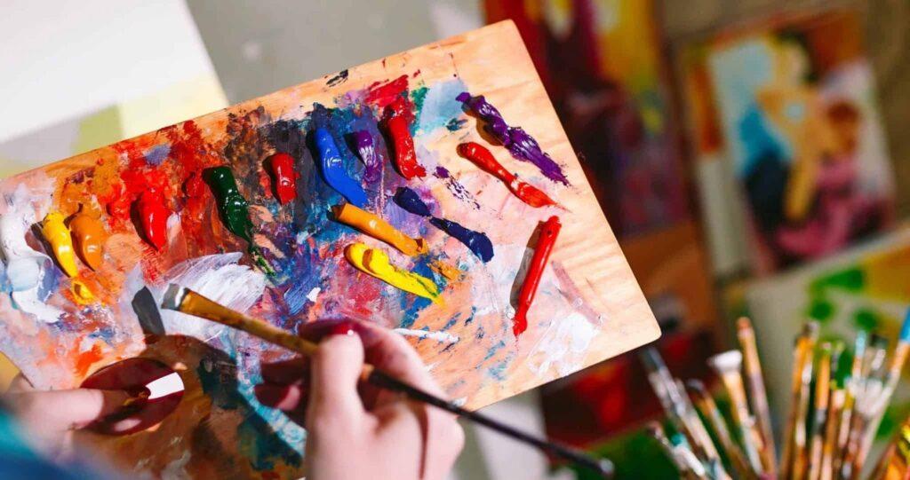 Elemente de arta cu picturile pe numere de la Pictorul Fericit